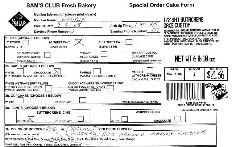 Cupcake Order Form Custom Cake Order Form Fill Out This Form And